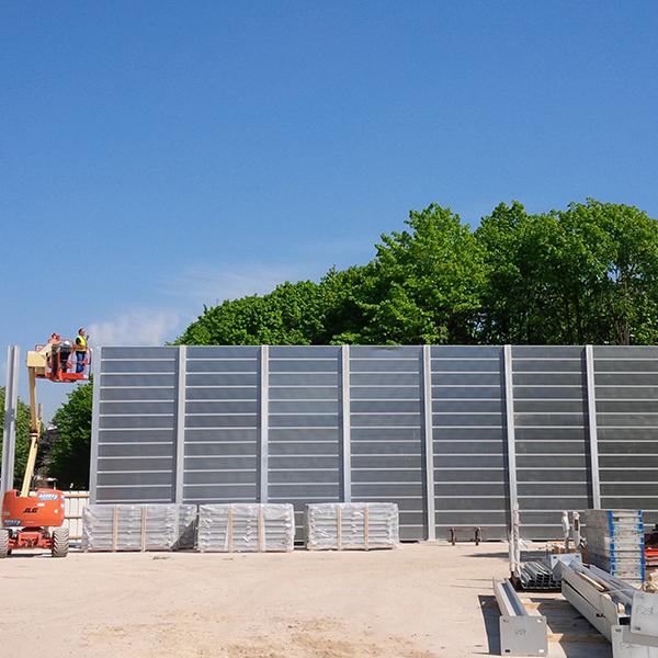 Réalisation de fondations sur pieux et d'un mur antibruit
